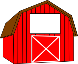 Clip art red . Barn clipart banner freeuse library