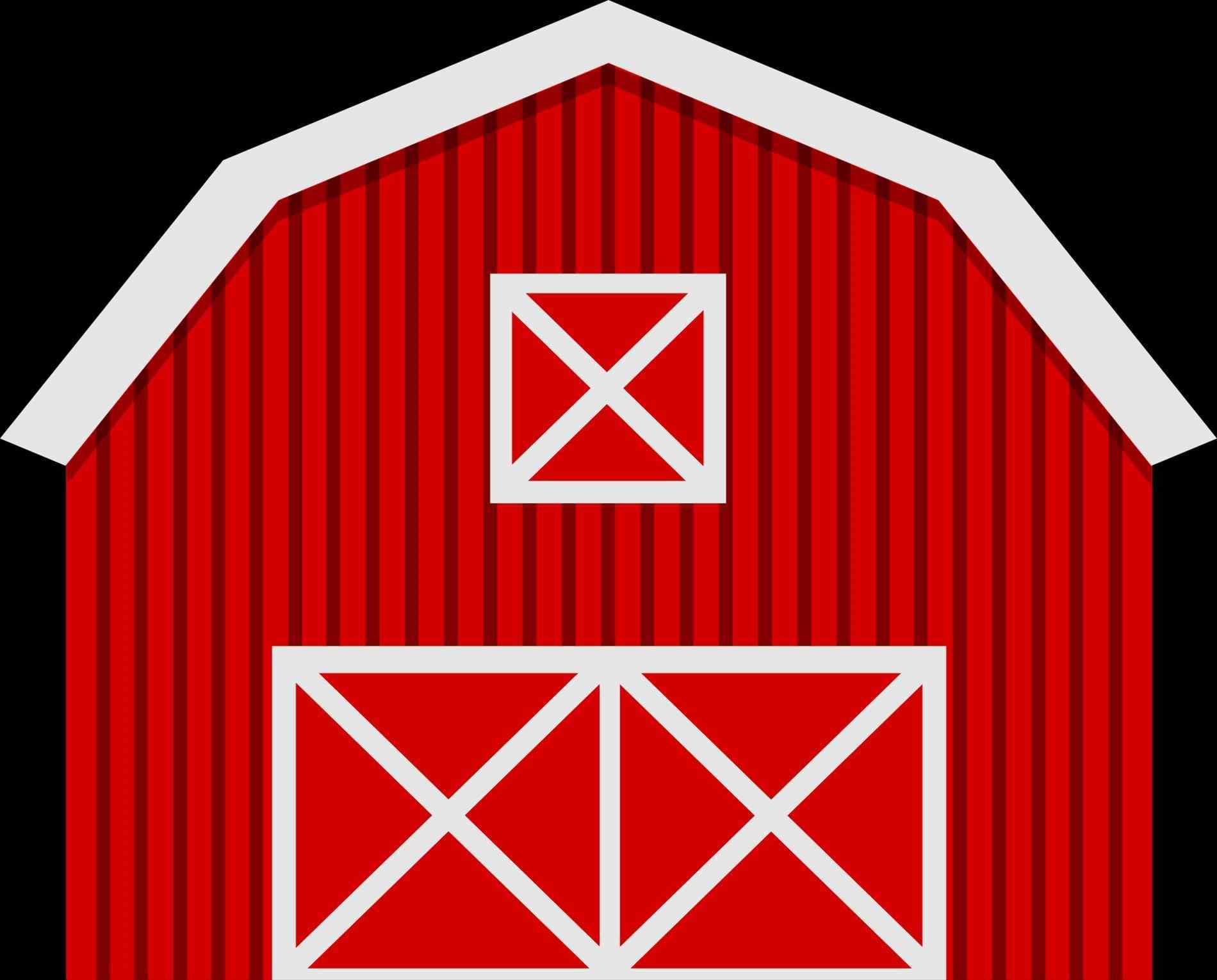 Barn clipart basic. Red at getdrawings com