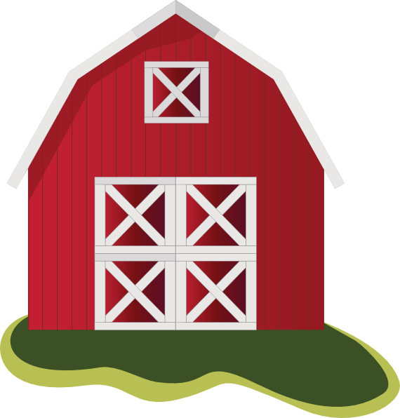 Barn clipart farmhouse. Simple