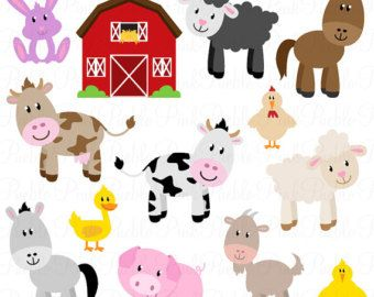 Barn clipart farmyard. Farm digital clip art