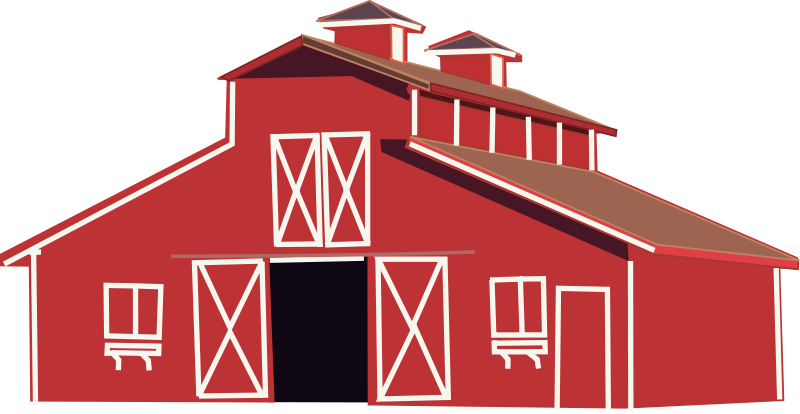 Barn clipart little red. House png black and