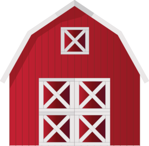Barn clipart vector. Red clip art at