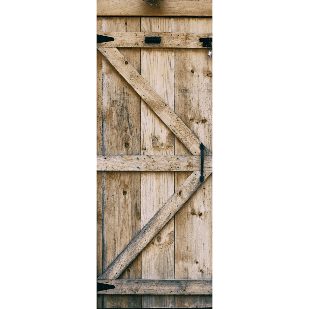 Barn door png. Wooden mural eazywallz