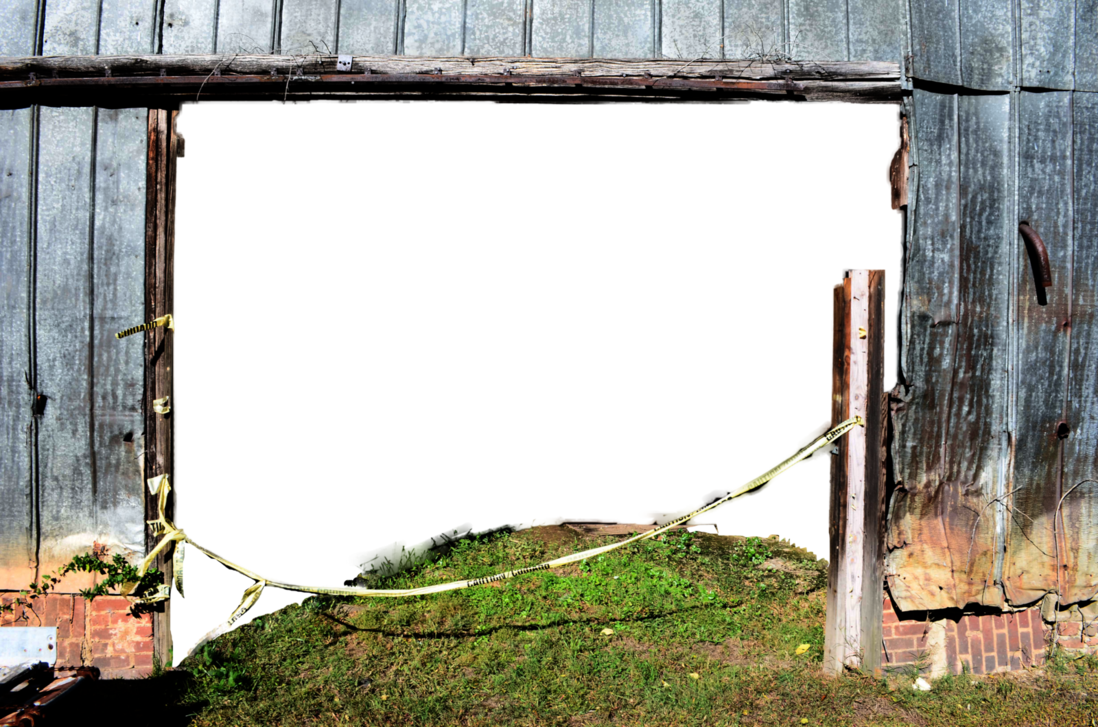 Barn door png. Old with open stock