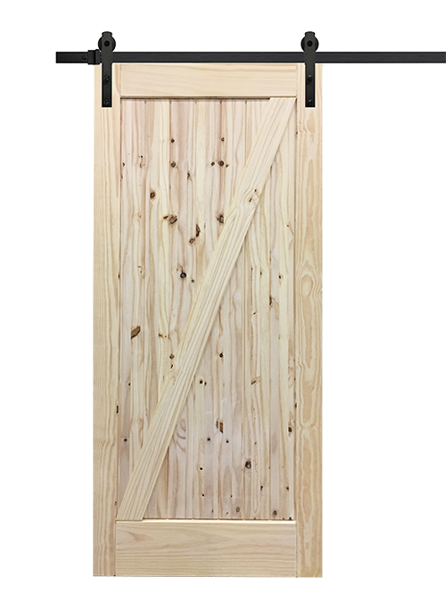 Barn door png. Single interior slab