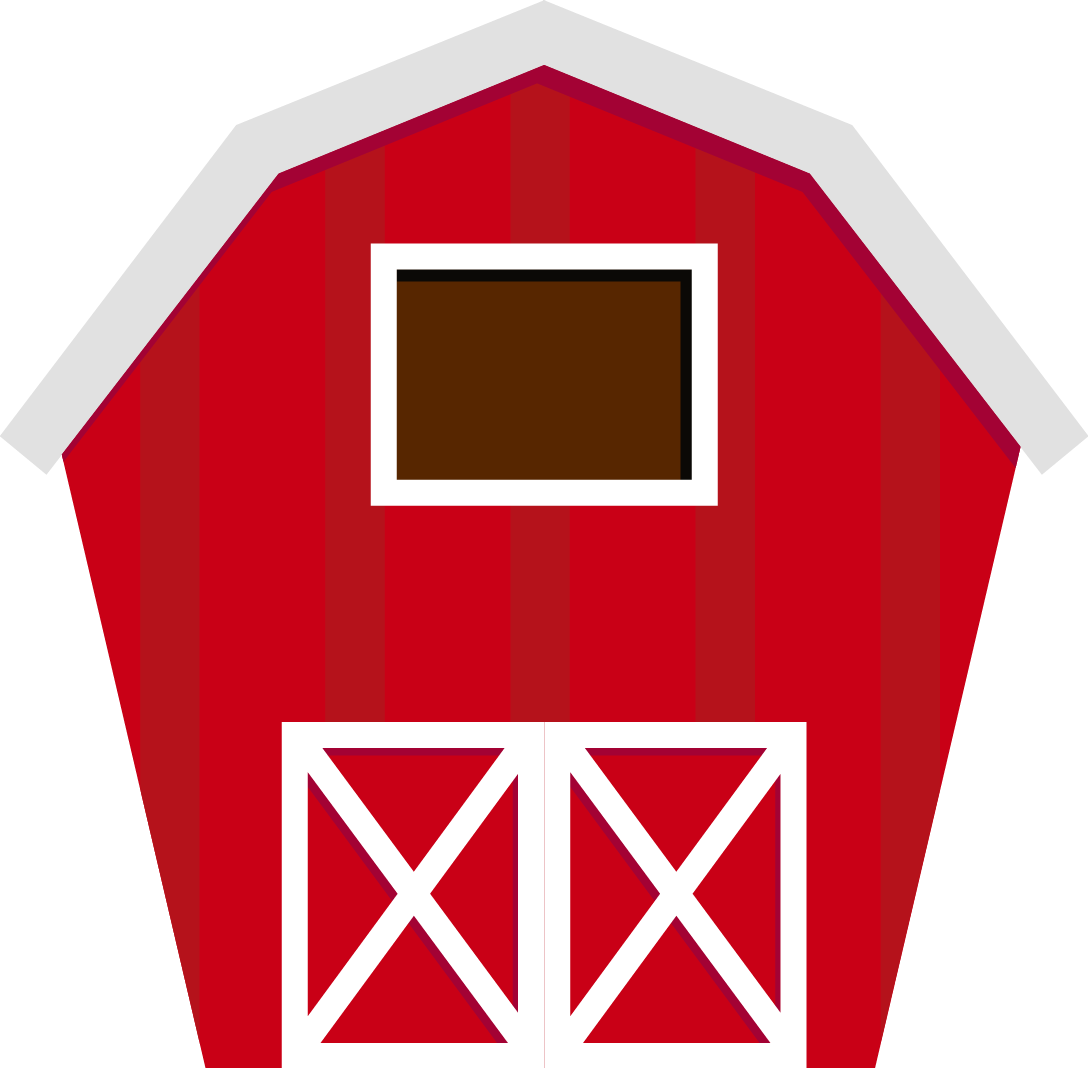 Barn png silo clipart. House black and white