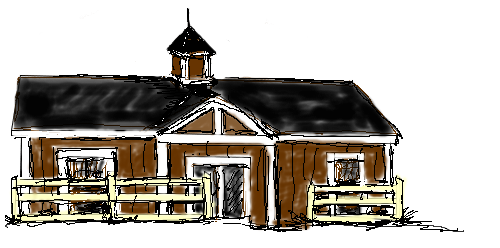 Barn png sketch. Cats red inn the