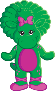 Barney clip baby bop. And friends drawing at