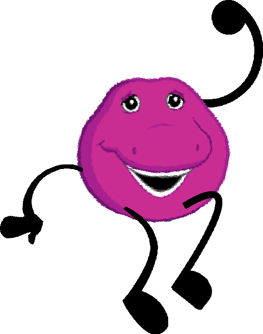 Barney head png. Image pose object shows