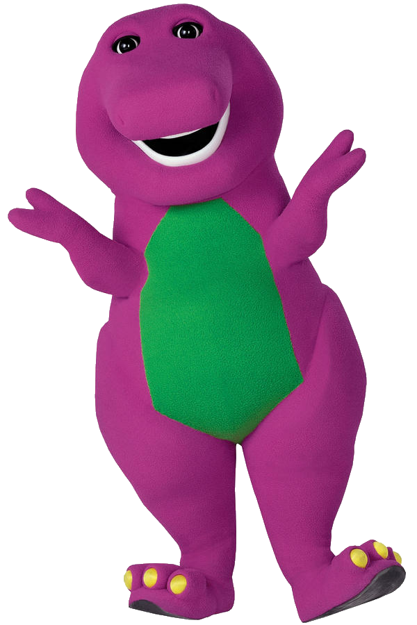 Barney transparent big. The dinosaur ytp s