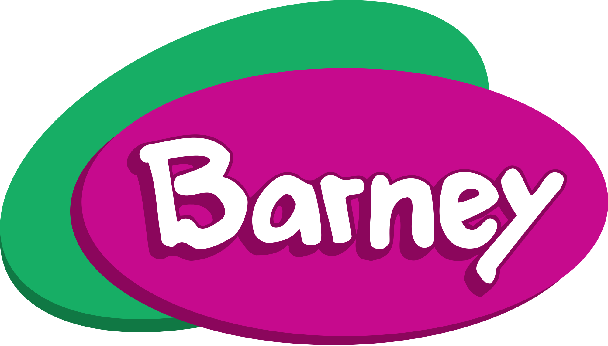 Barney transparent pink. File friends logo svg