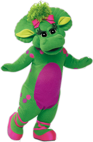 Barney transparent plush. Baby bop from friends