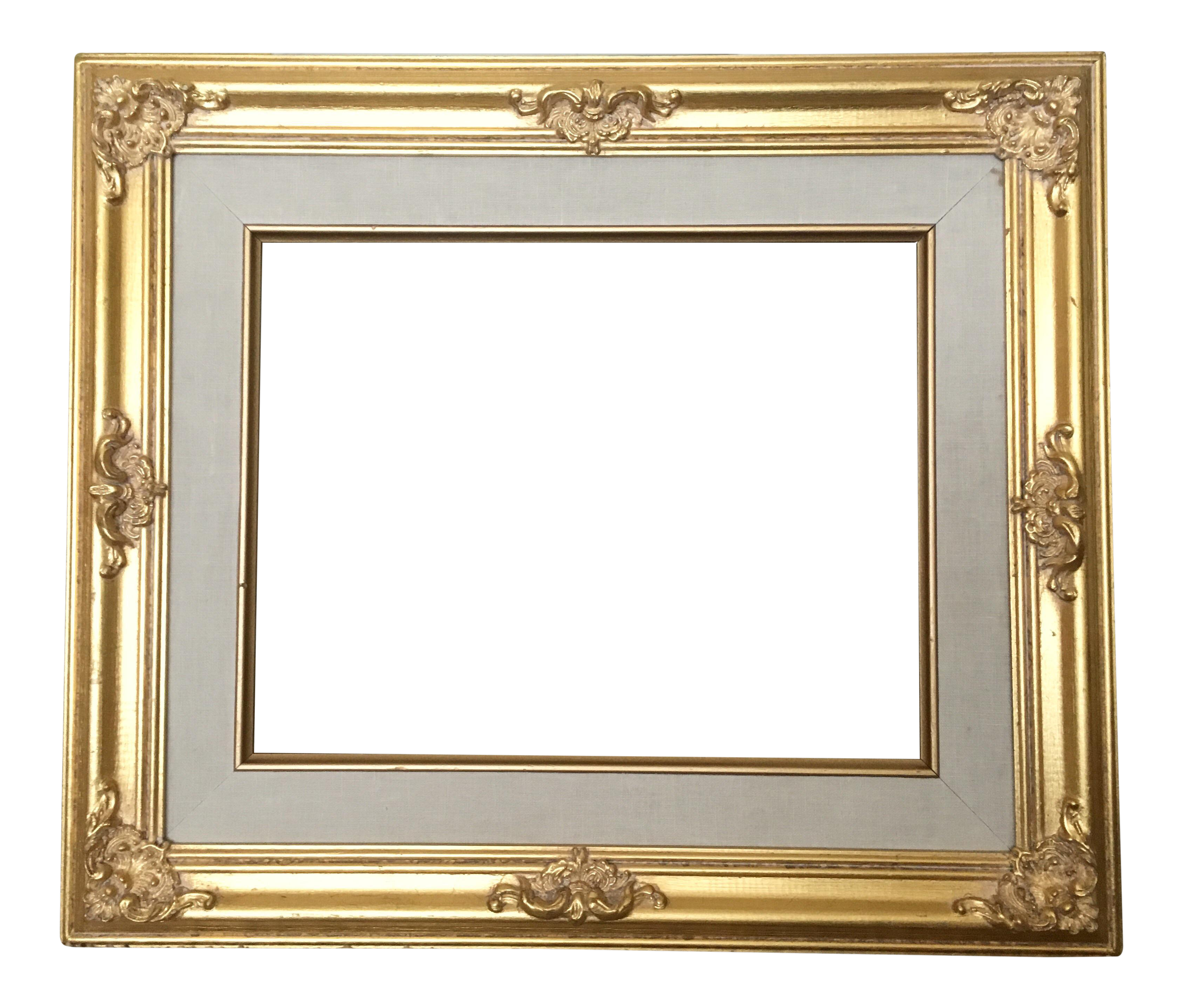Baroque frame png. French gold chairish