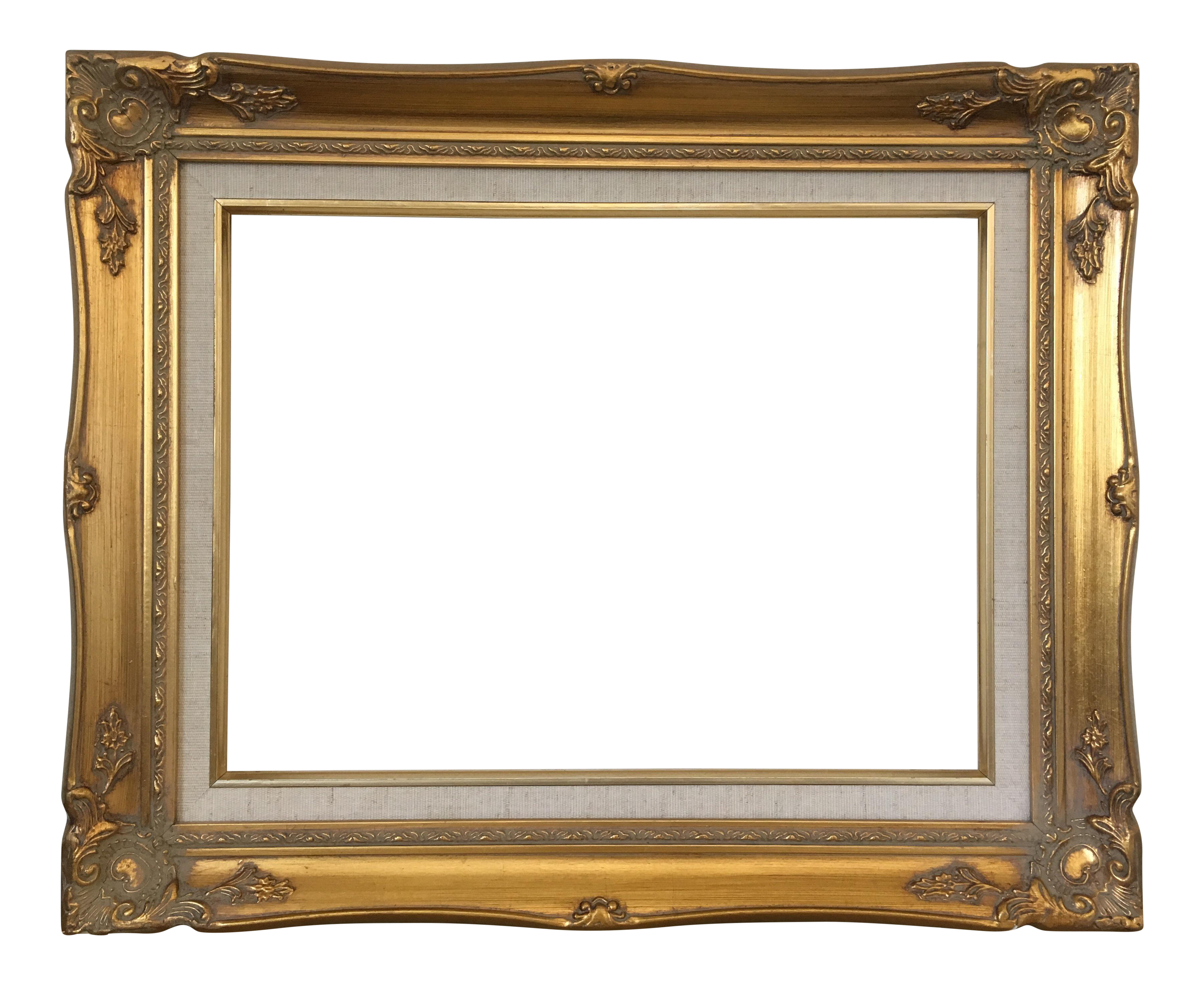 Baroque frame png. French regency gold chairish