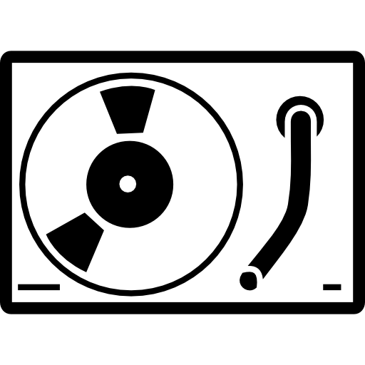 Baroque vector old style. Compact disc player icons
