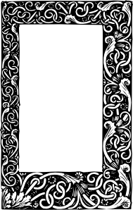Baroque vector ornamental. Ornate frame clip art