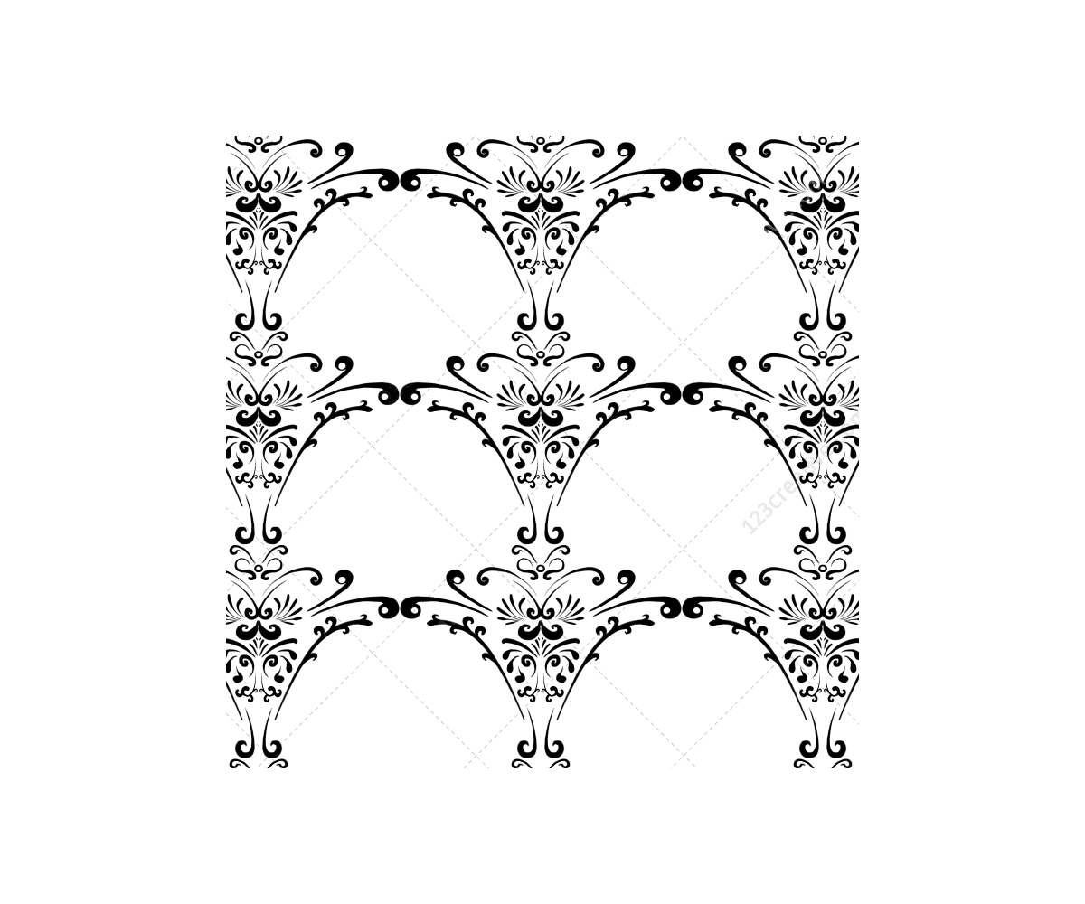 Futuristic vector digital pattern. Classic baroque patterns buy
