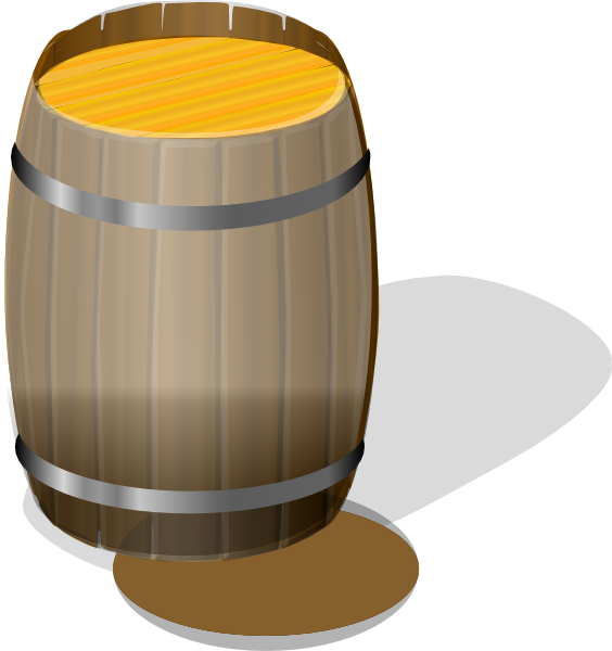Barrel clip. Banner transparent stock