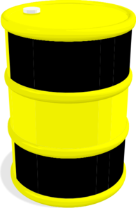 Barrel clip oil. Black and yellow art