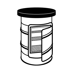 Barrel clipart drum container. Oil refrigerator washing station