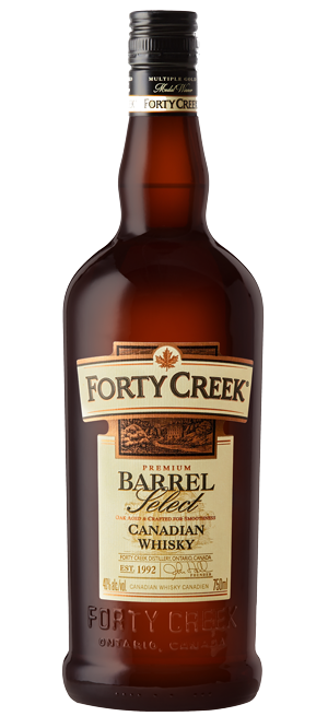 Whiskey drawing bottle. Forty creek whisky barrel