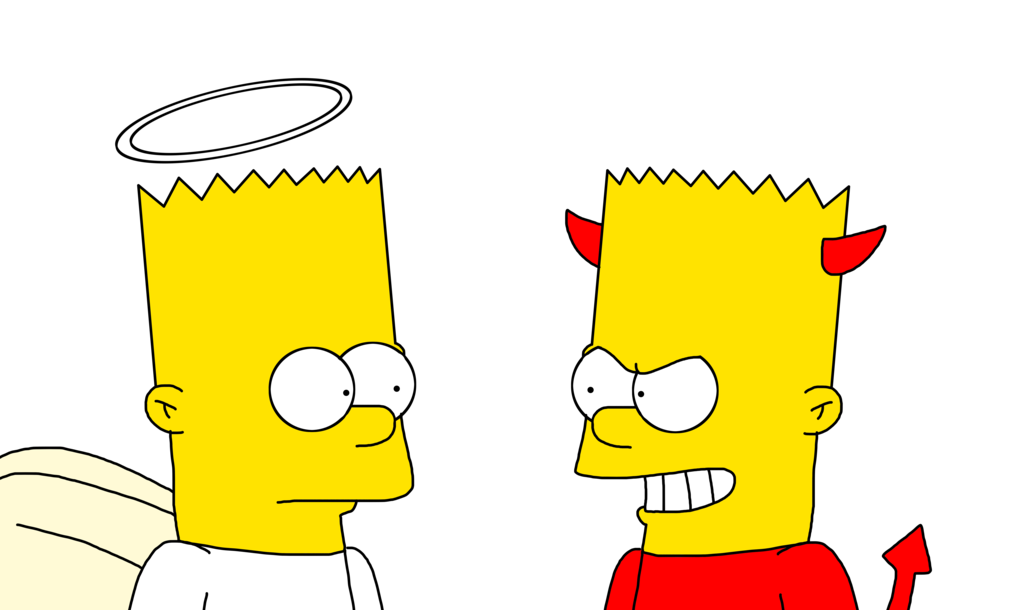 Simpsons drawing bart simpson. The good side evening
