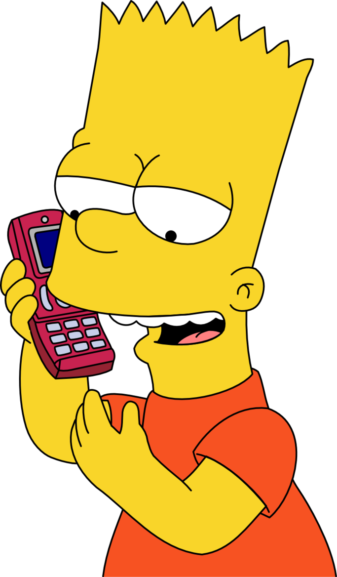 Bart drawing gangster. Simpson prank calls by