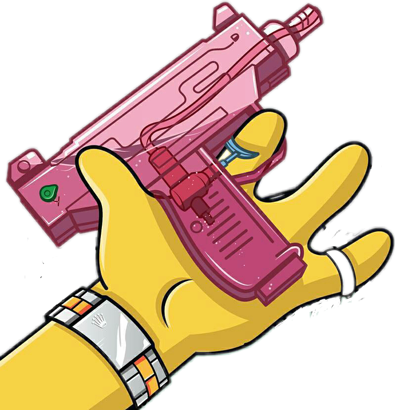 Bart drawing gun. Savage yellow bartsimpson pistola