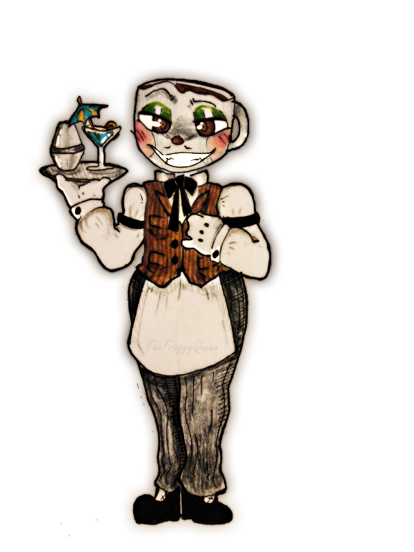 Bartender drawing deviantart. Cuphead coffee by thefroggyqueen