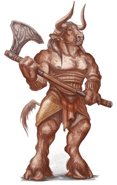 The minotaur race for. Sack drawing d&d clip black and white library