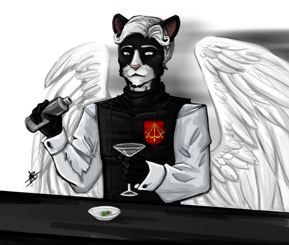 Bartender drawing deviantart. Commission by atropagrimm on