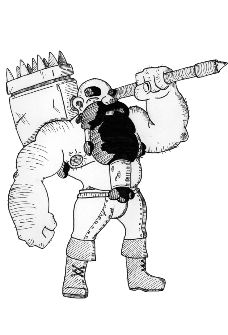 Drawing dwarves. Dwarf warrior by criticalrobotboy