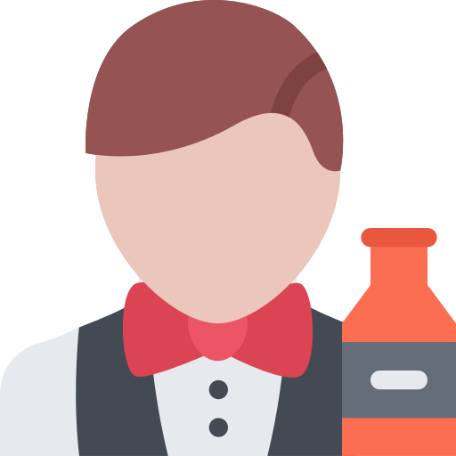 Bartender vector clipart. Png icon repo free