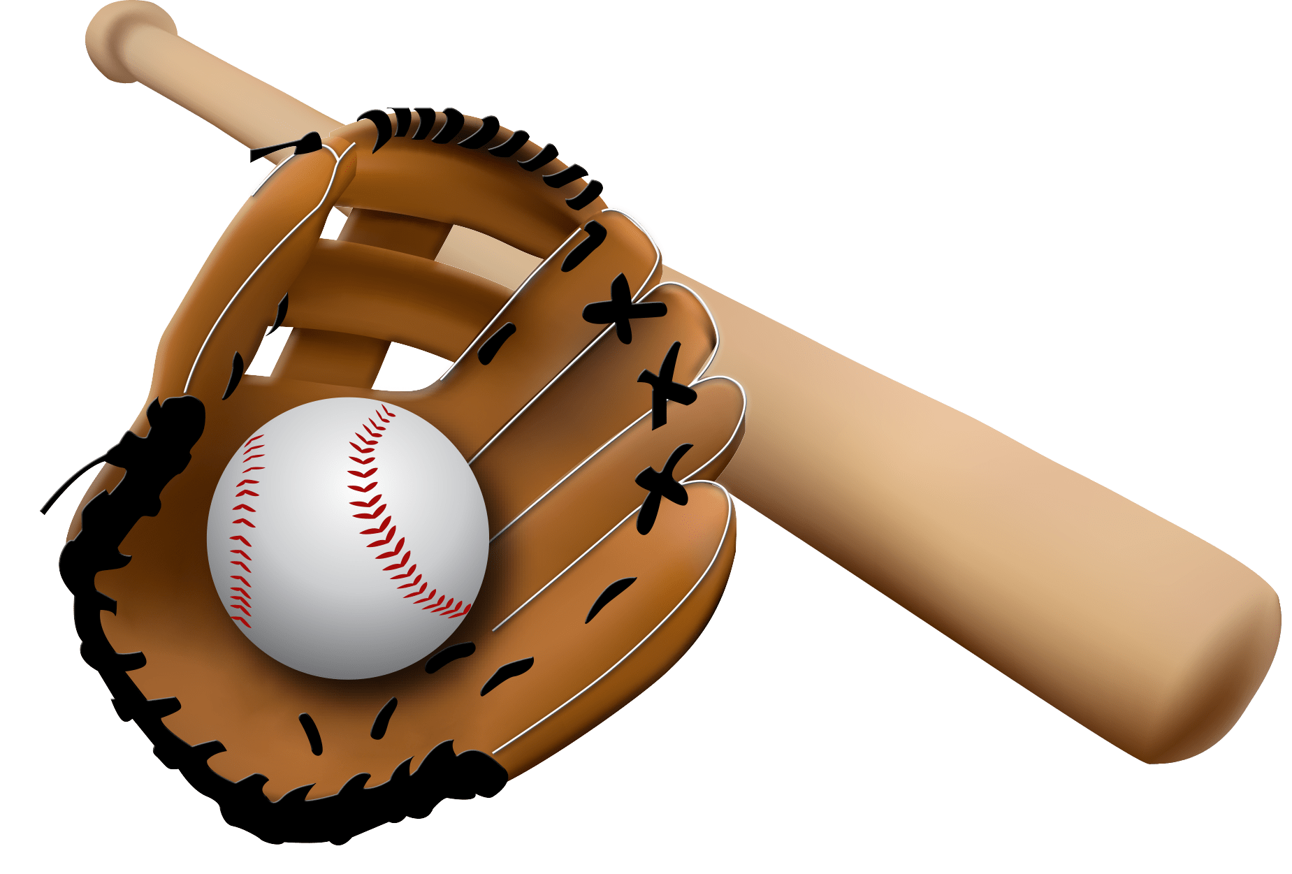 Baseball bat and ball png. Glove transparent stickpng