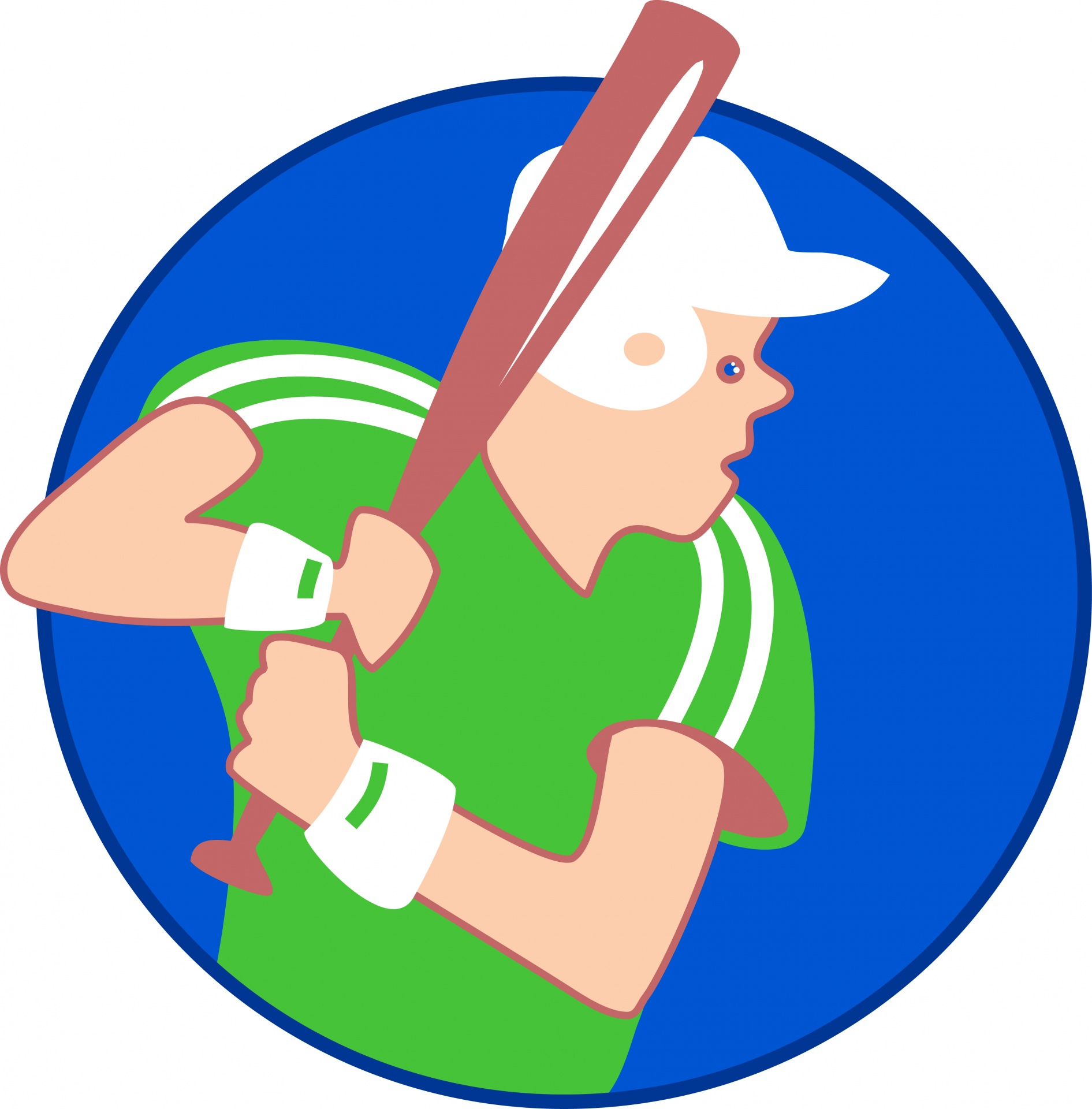 Baseball clipart. Player with a