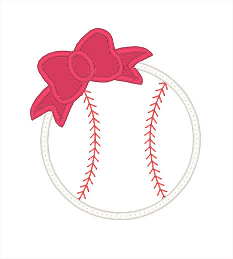 Baseball clipart bow. Pencil and in color