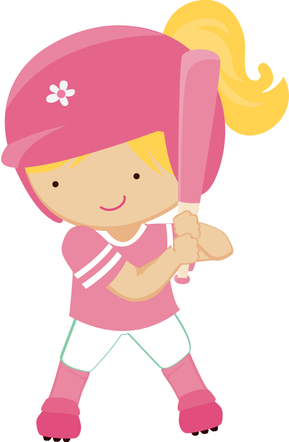 Baseball clipart cartoon. Girl playing images gallery