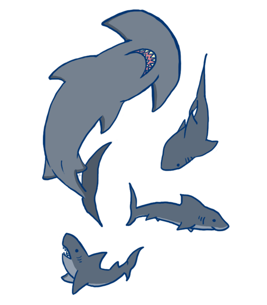 Baseball clipart shark. Party tee tower threads