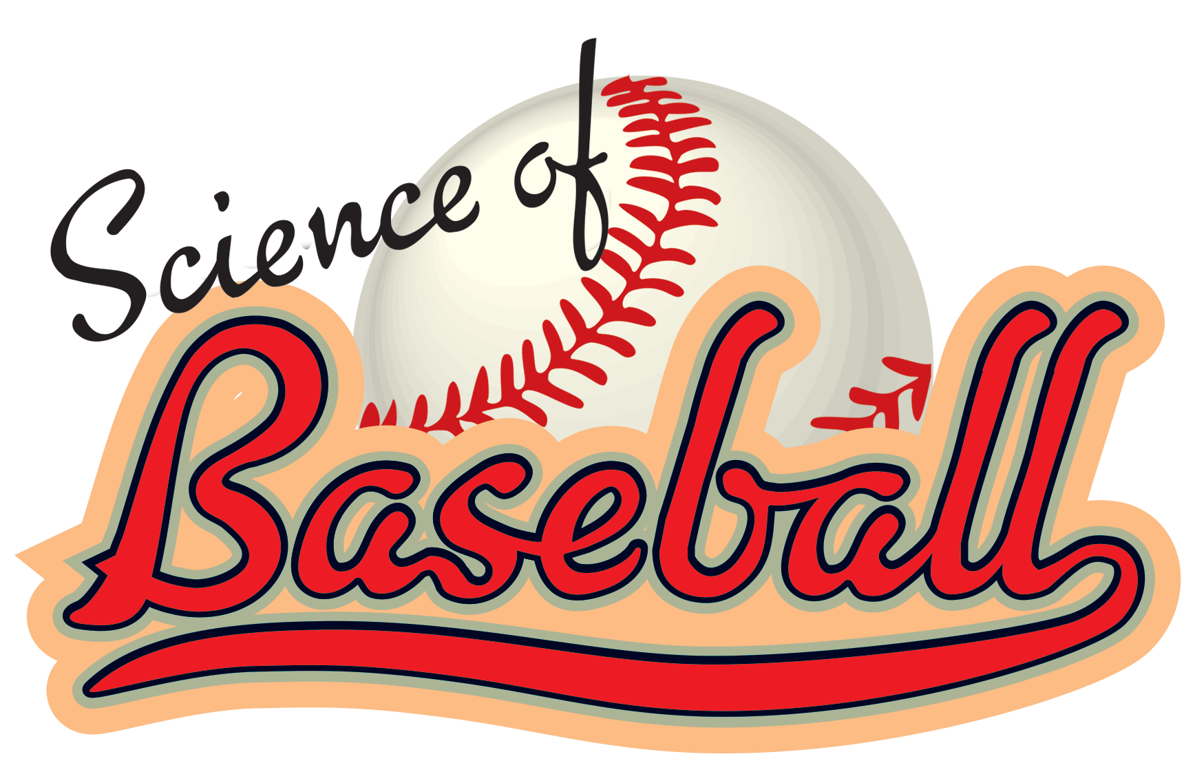 Baseball flying through the air png. Science of logo
