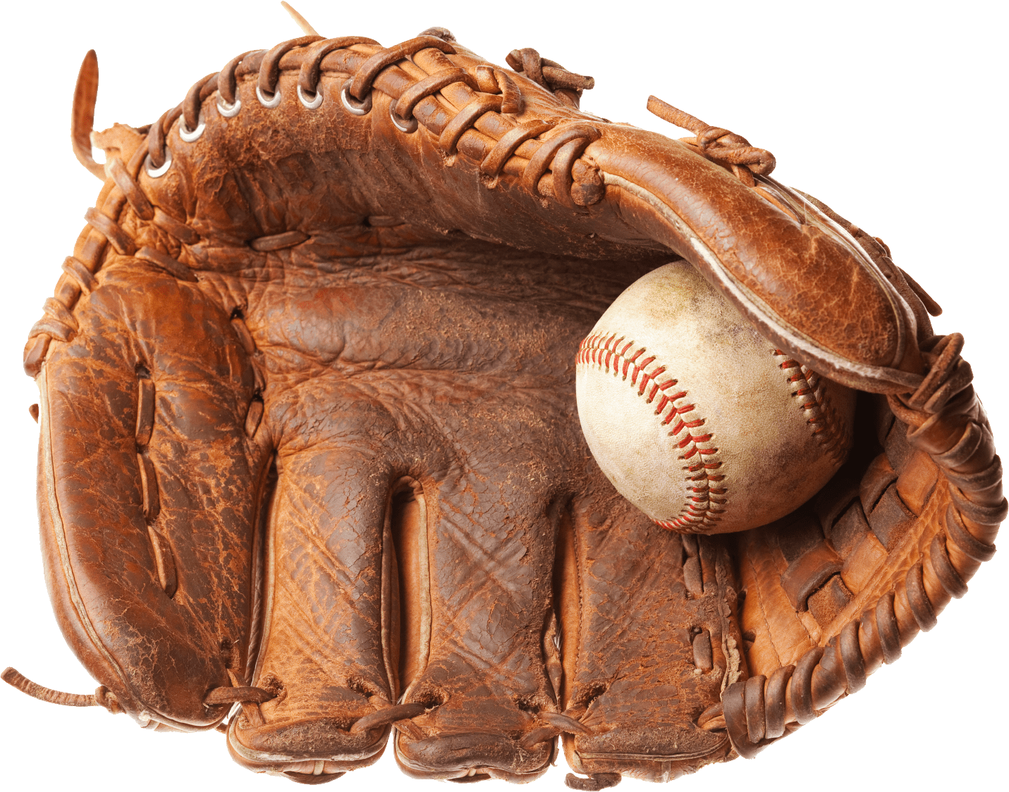 Baseball glove png. Vintage transparent stickpng