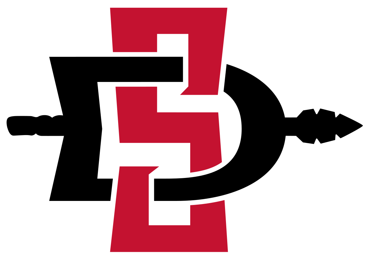 Baseball letters png. San diego state aztecs