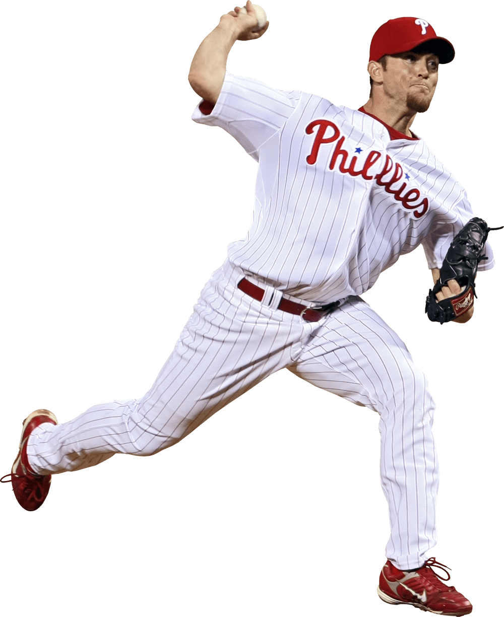 Baseball pitcher png. Philadelphia phillies player transparent