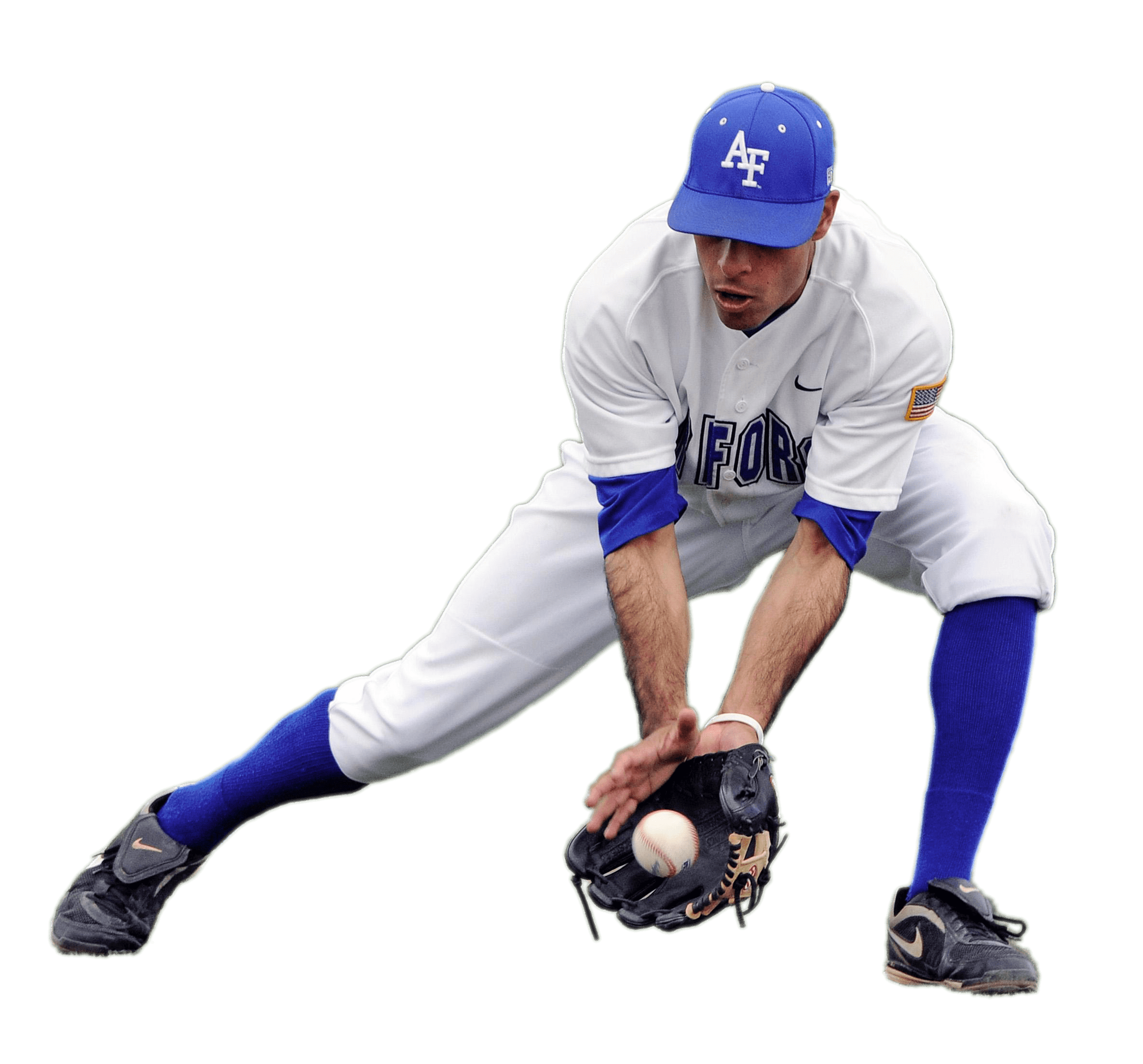 Baseball pitcher png. Player catching low ball
