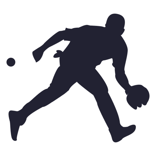 Baseball player silhouette png. Catching ball transparent svg