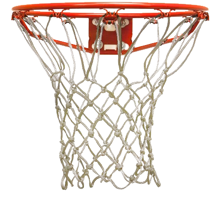 Basketball goal png. Colored hoop nets for