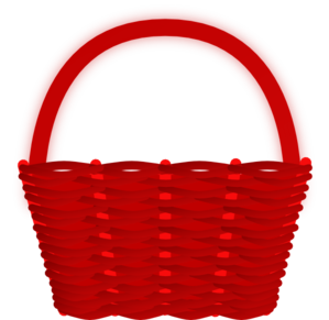Basket clipart. Red