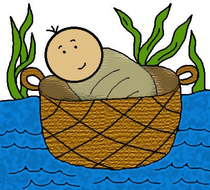 moses clipart basket
