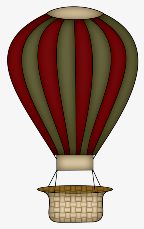 Basket clipart hot air balloon. A brown red png