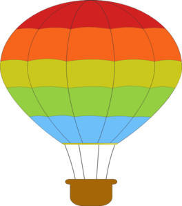 Basket clipart hot air balloon. Clip art at clker