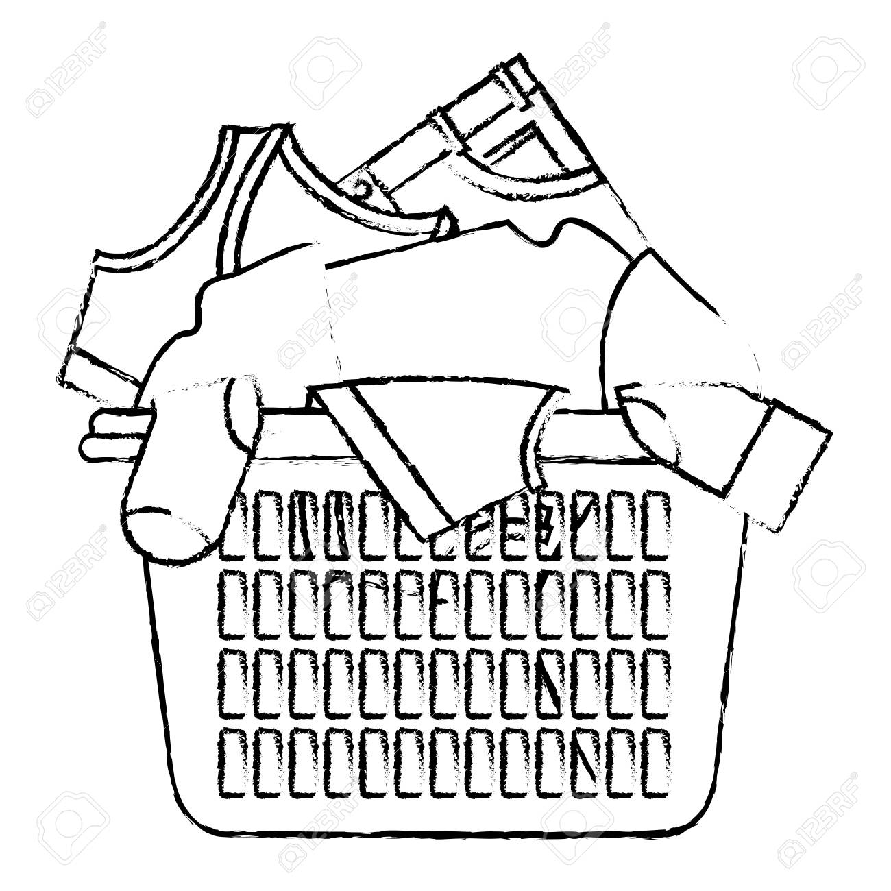 Basket clipart laundry basket. Drawing at getdrawings com